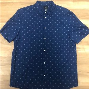 H&M Men's Patterned Button Up